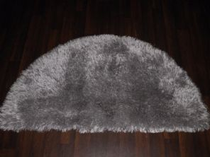 HALF MOON SHAGGYS RUGS 60CMX120CM WOVEN GOOD QUALITY NEW SUPER THICK PILE SILVER